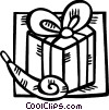 Vector Clipart illustration  of a birthday gift with a noise