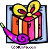 birthday gift with a noise maker Vector Clip Art image