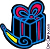 birthday gift with a noise maker Vector Clipart picture