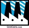 Vector Clip Art graphic  of a Factories and Refineries