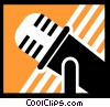 Vector Clipart illustration  of a Microphones