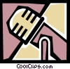 Vector Clip Art picture  of a Microphones