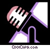 Microphones Vector Clip Art graphic