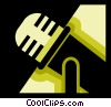 Vector Clipart image  of a Microphones