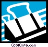 Vector Clip Art picture  of an Alligator or Bulldog Clips