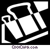 Vector Clipart image  of an Alligator or Bulldog Clips