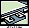 Vector Clipart illustration  of a Videotape Recorders