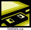 Vector Clipart graphic  of a Videotape Recorders