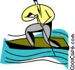 businessman in a rowboat Vector Clipart illustration