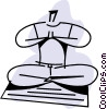 Vector Clipart illustration  of a man doing yoga