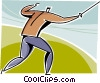 Fencer ready for competition Vector Clip Art picture