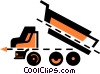 Vector Clip Art image  of a Dump Trucks