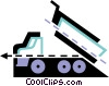 Vector Clip Art graphic  of a Dump Trucks