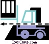 Vector Clipart picture  of a Fork Lifts