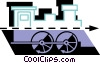 Vector Clipart illustration  of a Trains Locomotives