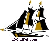 Clippers and Tall Ships Vector Clip Art picture