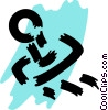 Vector Clip Art graphic  of a Rubber Stamps