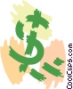 Dollar Signs Vector Clipart picture