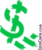 Vector Clipart graphic  of a Dollar Signs
