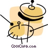 Vector Clip Art graphic  of a Cymbals
