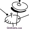 Vector Clipart image  of a Cymbals