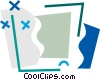 Vector Clip Art picture  of a Monitors