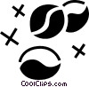 Vector Clipart graphic  of a Coffee Beans