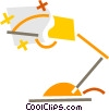 Vector Clip Art picture  of a Desk Lamps