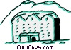 Vector Clip Art picture  of a Hotels and Motels