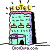 Hotels and Motels Vector Clip Art graphic