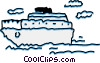 Vector Clip Art graphic  of a Cruise Ships and Ocean Liners
