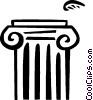 Column or Pedestal Vector Clipart illustration