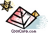 Pyramids Vector Clipart graphic