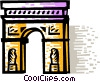 Vector Clip Art graphic  of an Arc de Triomphe