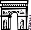 Arc de Triomphe Vector Clipart graphic