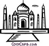 Vector Clip Art image  of a International Buildings