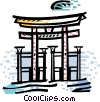 Temples Vector Clipart illustration