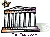 Vector Clip Art picture  of a Parthenon