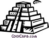 Vector Clip Art image  of a Incan Pyramids