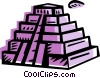Incan Pyramids Vector Clip Art picture