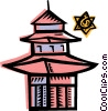 Vector Clipart picture  of a Temples