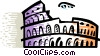 Vector Clip Art image  of a Roman Coliseums
