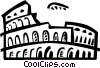 Roman Coliseums Vector Clipart graphic