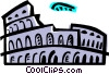 Vector Clip Art graphic  of a Roman Coliseums
