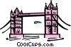Tower Bridge Vector Clip Art graphic