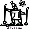 Cross Country Skiing Vector Clipart picture