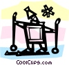 Vector Clip Art picture  of a Cross Country Skiing