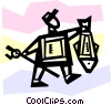 Vector Clip Art picture  of a Fisherman