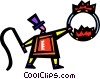 Vector Clip Art image  of a Performers and Circus Acts