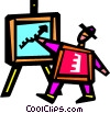 Vector Clipart graphic  of a Presenters and Presentations
